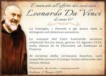 Manifesto Funebre Modello 01-Padre Pio su Cimiteri.Online - il primo social media dell'Aldilà con Identità Funebre Digitale