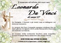 Manifesto Funebre Religioso - Modello Angelo 06