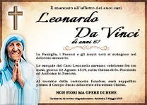 Manifesto Funebre Religioso - Modello Madre Teresa di Calcutta 02
