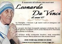 Manifesto Funebre Religioso - Modello Madre Teresa di Calcutta 04