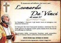 Manifesto Funebre Religioso - Modello Padre Pio 02