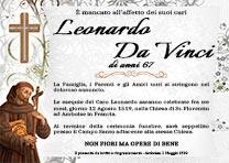 Manifesto Funebre Religioso - Modello San Francesco D'Assisi 01